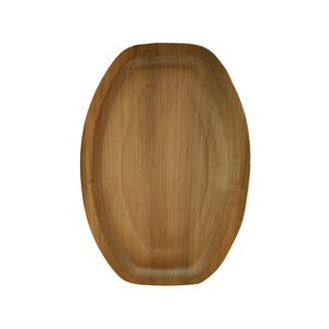 Oval Palm Leaf Plate - L: 14 in W: 9.5 in H: 1.2 in