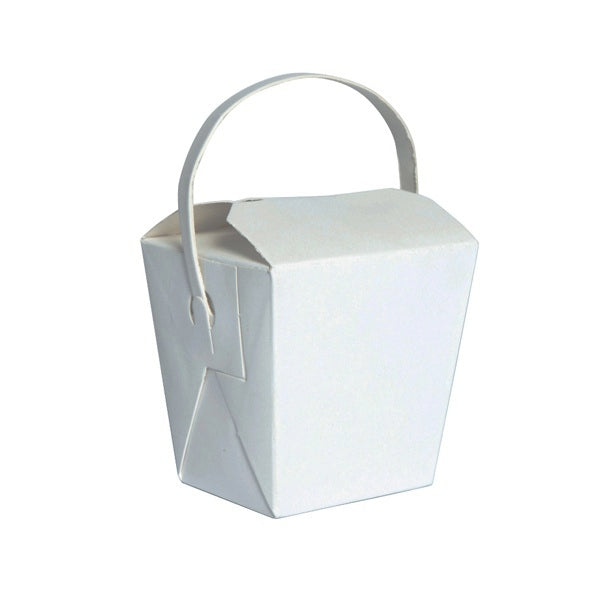 White Mini Noodle Box with Handle