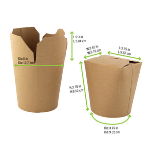 "Kraft Take Out Container - 26 oz Dia: 3.9"" H: 3.6"""