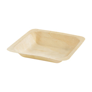 Square Wooden Plate 140mm