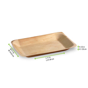 Palm Leaf Rectangular Tray