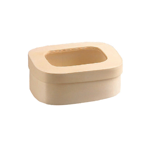 SAGA Wooden Box With Window Lid 118mm