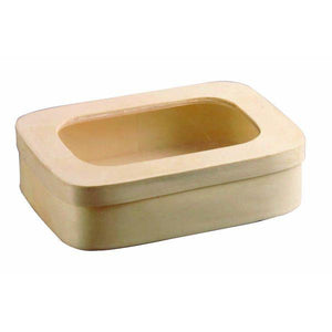 SAGA Wooden Box With Window Lid 90mm