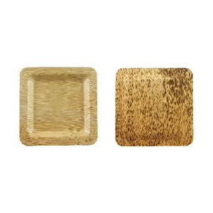Square Bamboo Leaf Plate,150mm, 5.9
