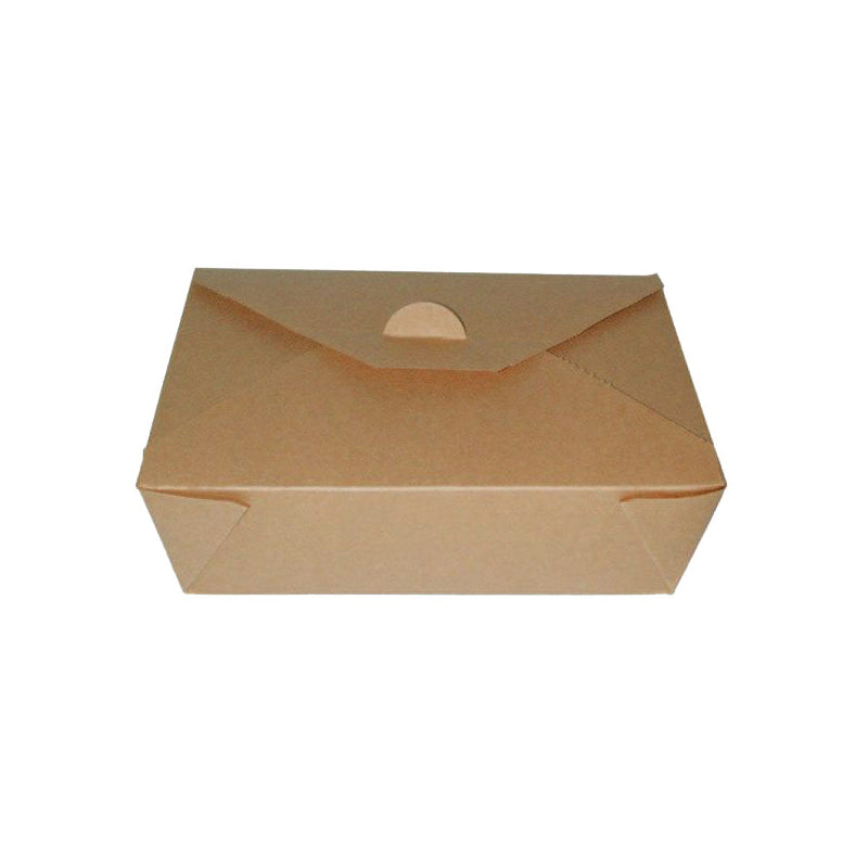"Brown Meal Box 8.3"" x 6.3"" x 2.5"""