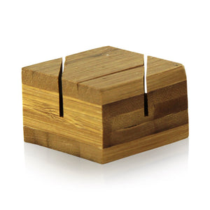 Bamboo Double Card Holder 1.5 x 1.5 x 1''