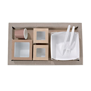 Kraft Meal Tray - 17.3 x 10.2 in.