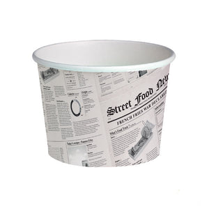 Buckaty News Printed Containers, 709ml (24oz)
