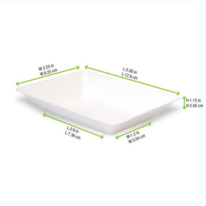 Eco-Design Sugarcane Plate, 140x80mm