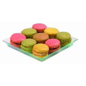 KLARITY Square Transparent Green Dish - 130mm/5.1""