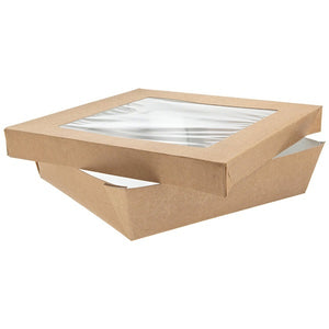 Brown Kray Box with Window Lid - 190mm