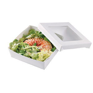 White Kray Box with Window Lid - 200mm/8""