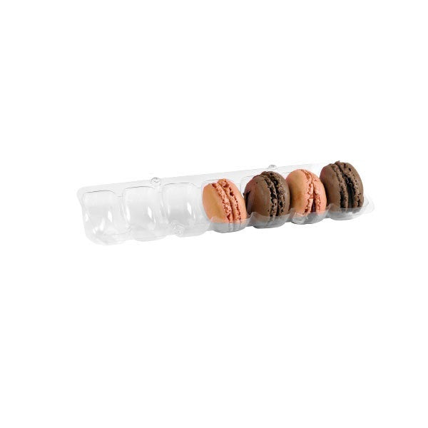 Long Clear Insert for 7 Macarons