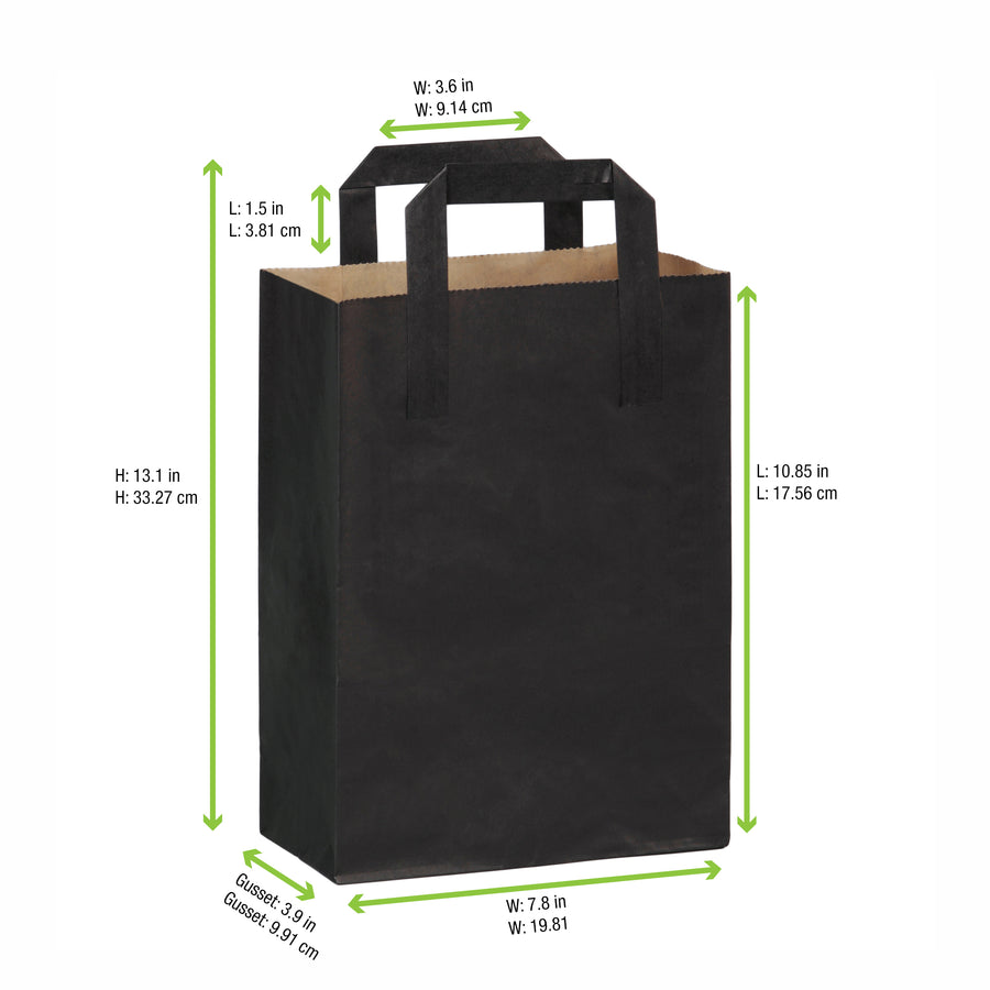 Black Mini Carry Bag 7.8 x 3.9 x 11""