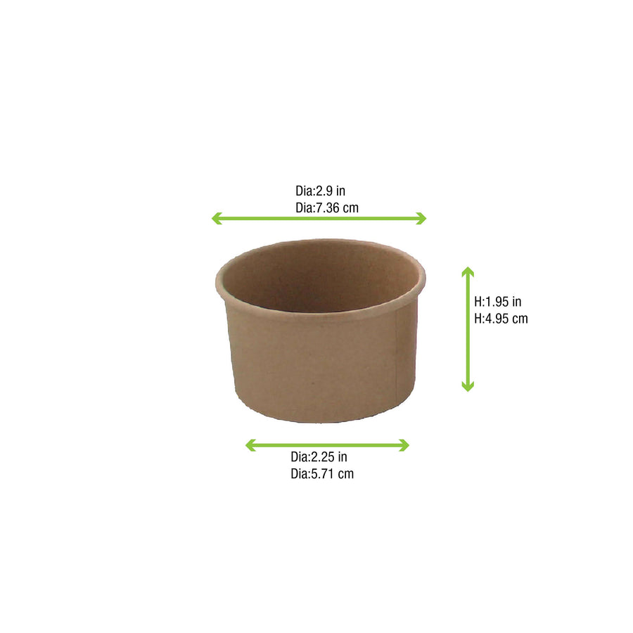 Brown Kraft Hot & Cold Paper Cup - 4oz