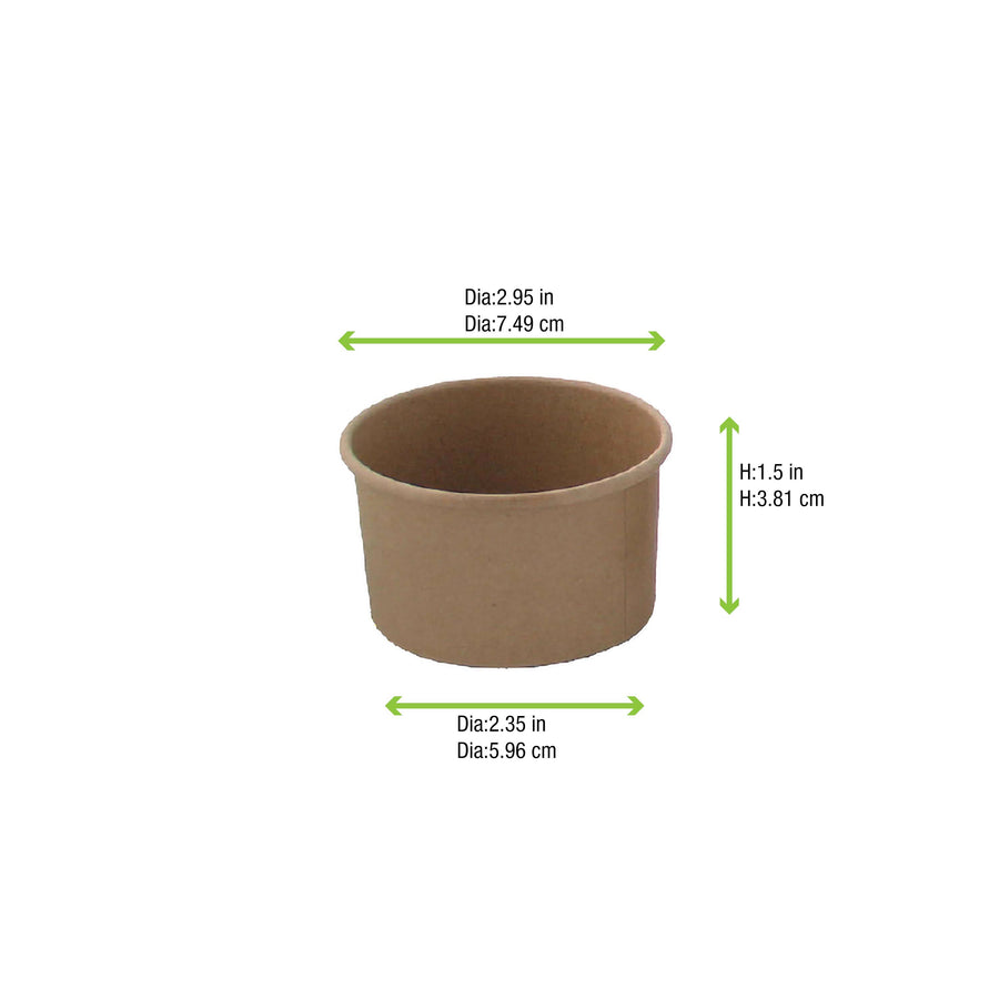 Brown Kraft Hot & Cold Paper Cup - 3oz