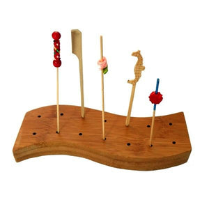 Bamboo Holder for Skewers 14-holes