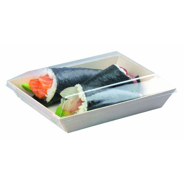 PET Lid for SAMURAI Rectangular Wood Dish