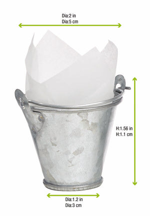 Metal Bucket with Handles 29.5ml/1oz