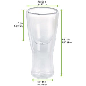 Double Wall Tall Mini Glass (High Quality Borocilicate Glass) 1.7 oz