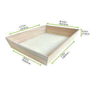 NOAH40 Heavy Duty Wooden Tray 17.9 x 14 x 3 in