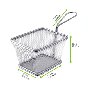 Mini Metal Fryer Basket - 4.9 x 4 x 3.2""