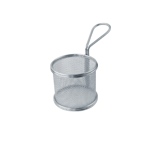Small Round Stainless Steel Fryer Basket, 6 pieces