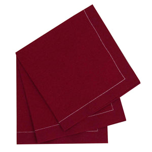 Luxury Red Cotton Cocktail Napkin (Reusable)