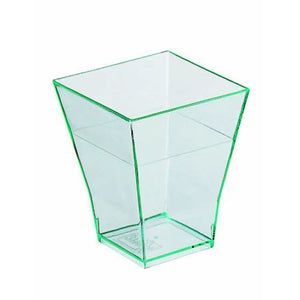 Taiti Mini Square Cup - Clear Green