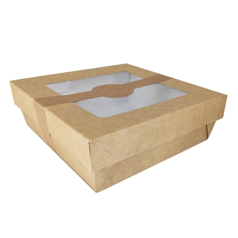Brown Kray Box with Window Lid - 155mm