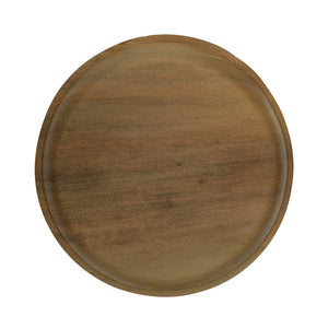 Palm Leaf Round Dinner Plate - Dia: 12 in H: 1 in