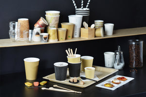 "Zen Kraft Recyclable Paper Cups - 16 oz Dia: 3.5"" H : 5.2"""