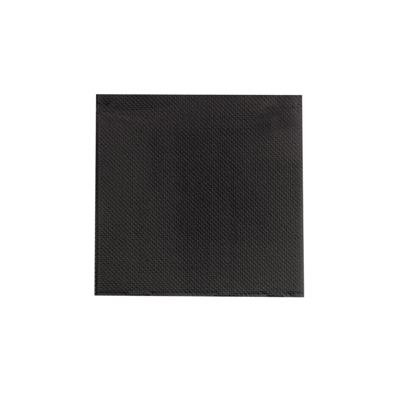 "Point to point Black Tissue Napkin 10x10"" 2 Ply, 1/4 Fold"