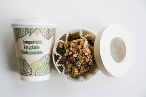 Compostable Paper Cups - Green-zy Design Double Wall 4oz
