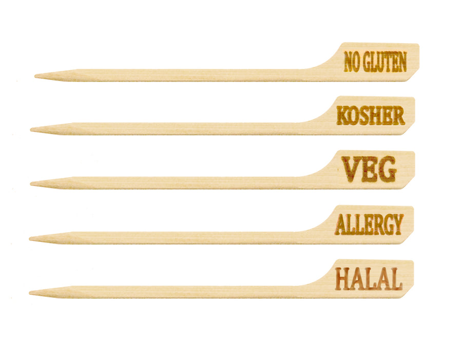 Bamboo Food Marker - No Gluten