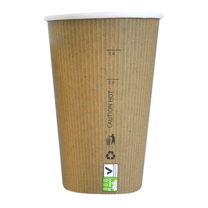 "Compostable Paper Cup Single Wall - 16 oz Dia: 3.5"" H 5.3"""