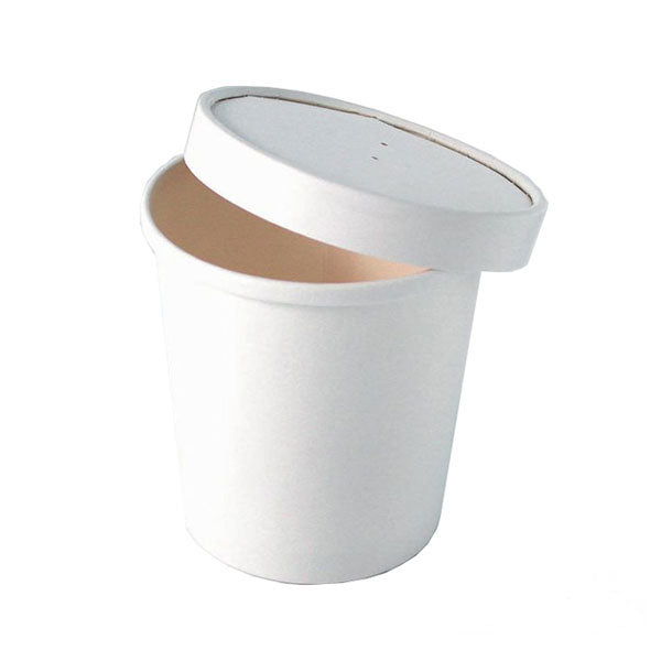 CLEARANCE: White Cardboard Lid for 210SOUP24