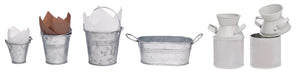 Metal Bucket with Handles 200ml/6.8oz