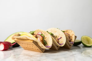 Bamboo Taco Holder for 3 Tacos