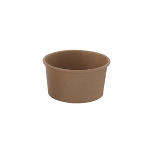 "Brown Kraft Hot & Cold Paper Cup - 9 oz Dia: 3.7"" H: 2"""