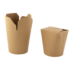 "Kraft Take Out Container - 32 oz Dia: 3.8"" H: 4.5"""