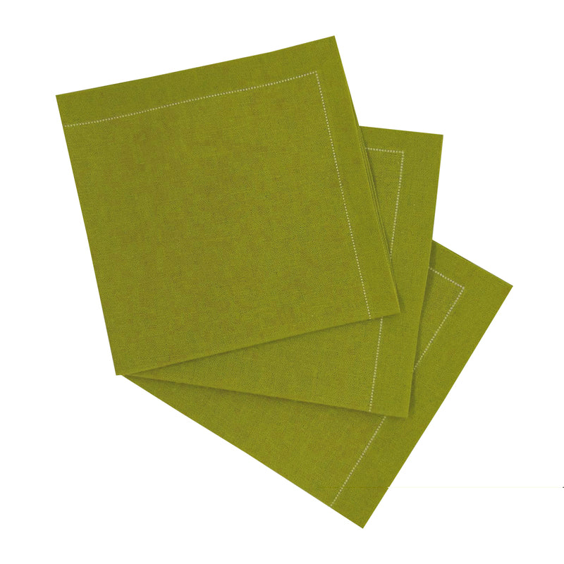 Luxury Olive Green Cotton Cocktail Napkin (Reusable)