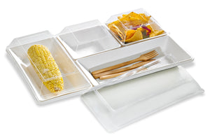 Eco-Design Sugarcane Compartment Tray, 400x270mm
