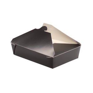 Black Meal Box - Base: 7.7 x 5.5 x 2.5''Top: 8.5 x 6.3''36oz