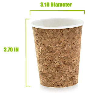 Insulated Corked Coffee Cup, Size 1- 8 oz