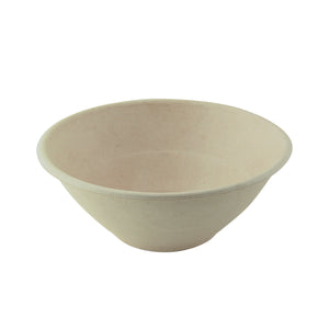 Brown pulp round bowl - 40 oz -  D: 7.7 in - H: 3 in