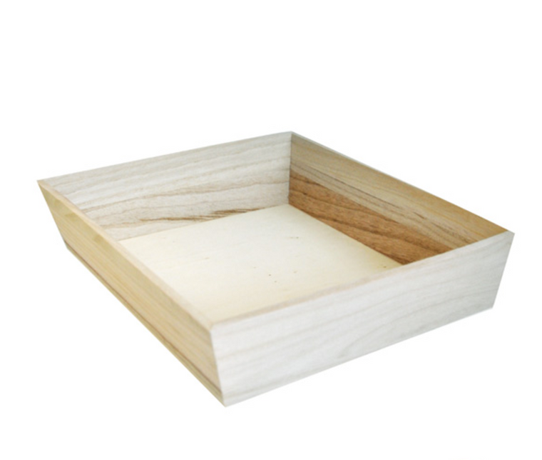 NOAH26H Heavy Duty Wooden Tray 10.5 x 10.5 x 2.9