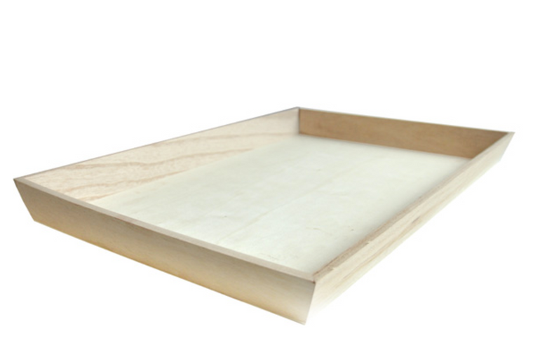 NOAH45 Heavy Duty Wooden Tray 18 x 12 x 1.6""