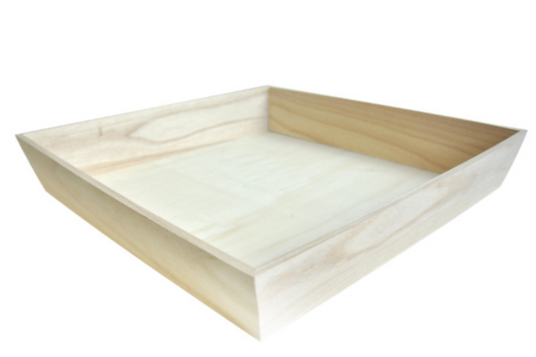 NOAH4040H Heavy Duty Wooden Tray 15.4 x 15.4 x 2.9""