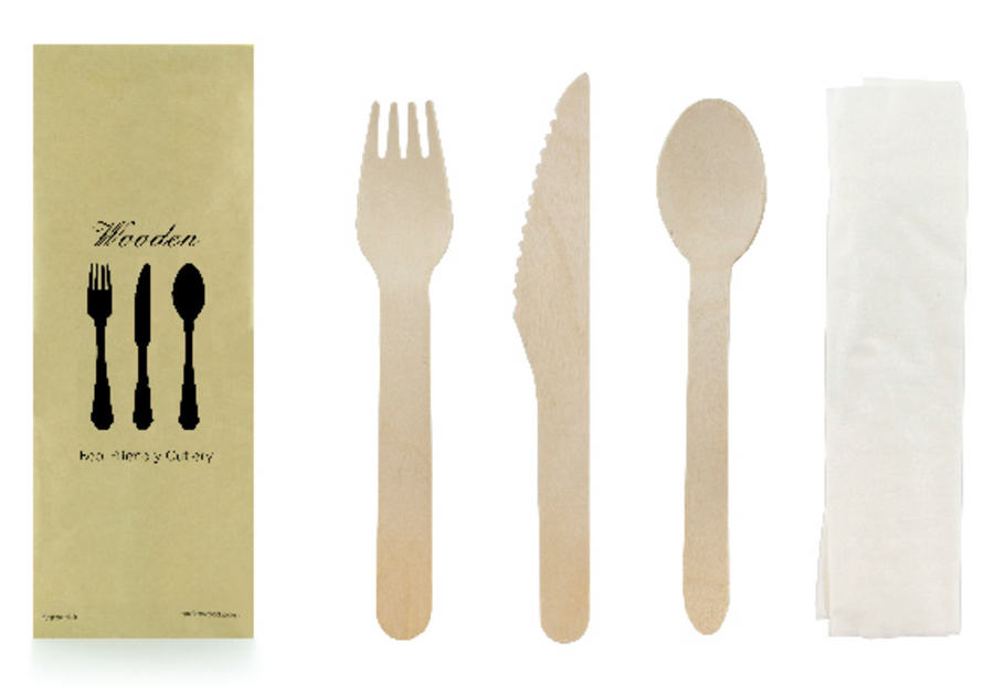 Wood Cutlery Kit (4 pieces)